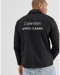 schwarze Shirtjacke aus Nylon von Calvin Klein