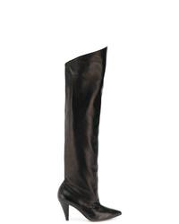 schwarze Overknee Stiefel aus Leder von Givenchy