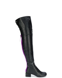 schwarze Overknee Stiefel aus Leder von Marni