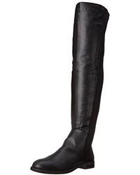 Schwarze Overknee Stiefel aus Leder von Penny Loves Kenny