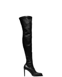 schwarze Overknee Stiefel aus Leder von Stella McCartney