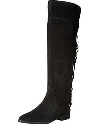 Schwarze Overknee Stiefel aus Wildleder von Aldo