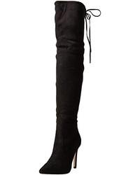 schwarze Overknee Stiefel von Boohoo