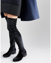 schwarze Overknee Stiefel von Glamorous