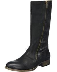 schwarze Overknee Stiefel von Kickers