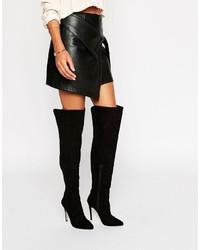 schwarze Overknee Stiefel von Lipsy