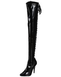 schwarze Overknee Stiefel von Pleaser