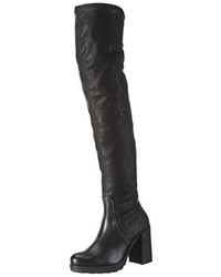 schwarze Overknee Stiefel von Tosca Blu