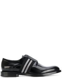schwarze Oxford Schuhe von Fendi