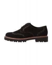 schwarze Oxford Schuhe von Gabor