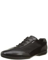 schwarze Oxford Schuhe von Geox