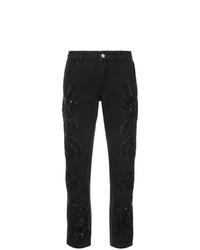 schwarze Pailletten Boyfriend Jeans von Amen