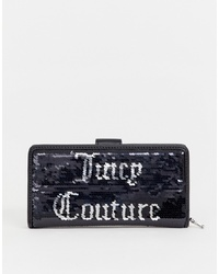 schwarze Pailletten Clutch von Juicy Couture