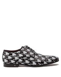 schwarze Pailletten Derby Schuhe von Dolce & Gabbana