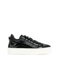 schwarze Pailletten niedrige Sneakers von Dsquared2