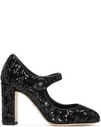 Schwarze Paillette Pumps von Dolce & Gabbana