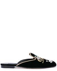 schwarze Pantoletten von Dolce & Gabbana