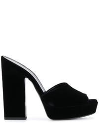 schwarze Pantoletten von Saint Laurent