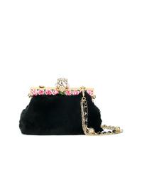 schwarze Pelz Clutch von Dolce & Gabbana