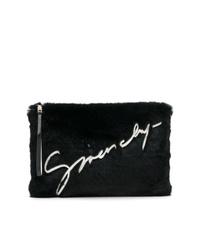 schwarze Pelz Clutch von Givenchy