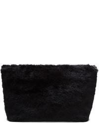 schwarze Pelz Clutch von Junya Watanabe