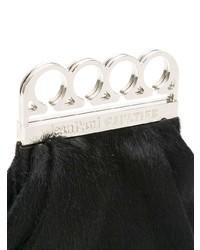 schwarze Pelz Clutch von Jean Paul Gaultier Vintage