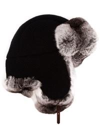 schwarze Pelzkappe von Inverni
