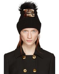 schwarze Pelzmütze von Dolce & Gabbana