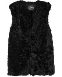 schwarze Pelzweste
