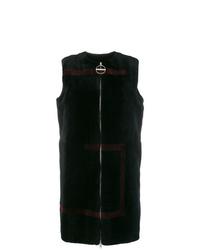schwarze Pelzweste von Givenchy