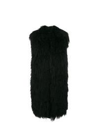 schwarze Pelzweste von Moncler