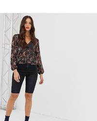 schwarze Radlerhose aus Jeans