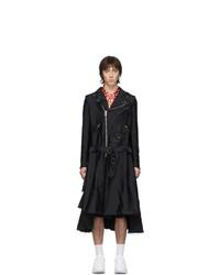 schwarze Regenjacke von Comme Des Garcons Homme Plus