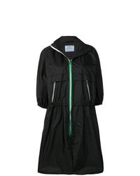 schwarze Regenjacke von Prada