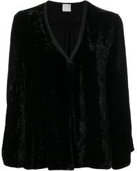 schwarze Samt Bluse von Forte Forte