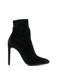 schwarze Samt Stiefeletten von Giuseppe Zanotti Design