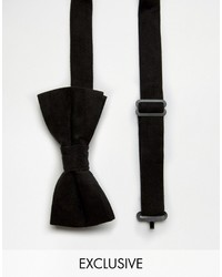 schwarze Samtfliege von Reclaimed Vintage