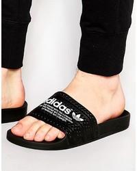 schwarze Sandalen von adidas