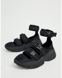 schwarze Sandalen von ASOS DESIGN