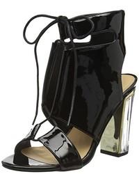 schwarze Sandalen von Boohoo