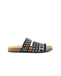 schwarze Sandalen von DSQUARED2