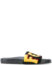 schwarze Sandalen von Fendi
