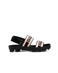 schwarze Sandalen von Gucci