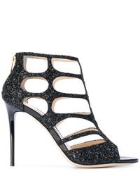 schwarze Sandalen von Jimmy Choo