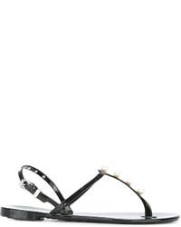 schwarze Sandalen von Karl Lagerfeld