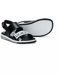 schwarze Sandalen von Dolce & Gabbana