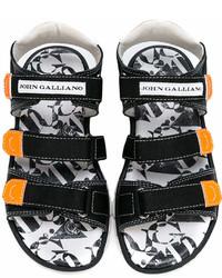 schwarze Sandalen von John Galliano