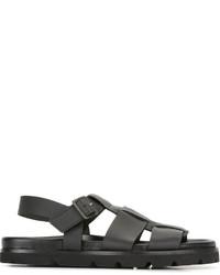 schwarze Sandalen von Lanvin