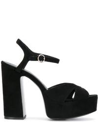 schwarze Sandalen von Marc Jacobs