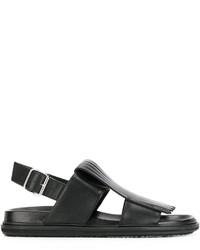 schwarze Sandalen von Marni